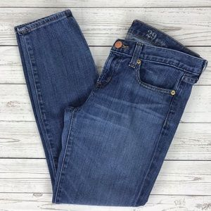 J. Crew Toothpick Ankle Jeans #04755 Blue 29
